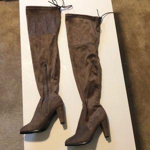 Catherine Malondrino Brown Verda Thigh High Boots